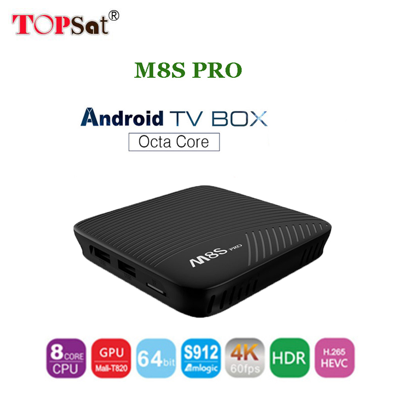 2018 Newest M8S PRO Smart Android 7.1 TV Box Amlogic S912 Octa Core CPU media player Wifi 4K H.265 M8Spro Set Top Box