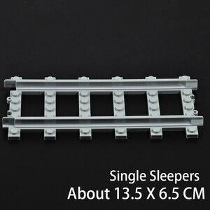 Image 4 - Ausini Flexible City Compatible pour les Trains Lego Rail Rail Rail modèle ensembles fourchus droite courbe blocs de construction brique jouet