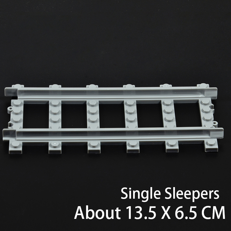 Image 4 - Ausini 柔軟な市互換のため列車レールトラック鉄道モデルセットフォークされたストレート湾曲したビルディングブロックレンガのおもちゃ    グループ上の おもちゃ