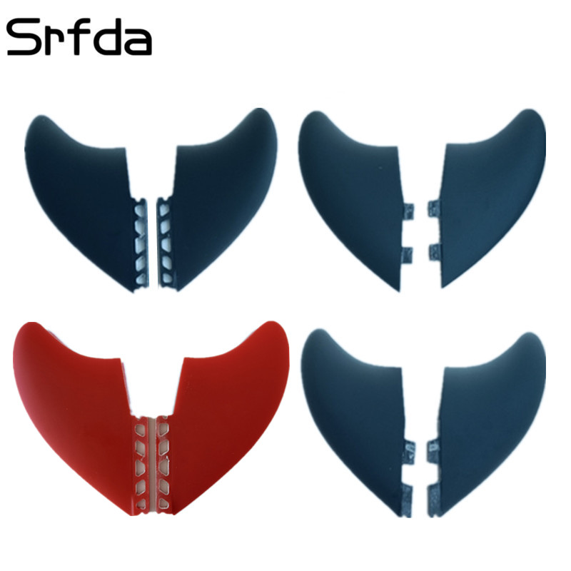 цена на NEW Design hotsales homb fiber glass fins 2pcs/set XXXL size surfing fins XXXL twin for Future FCS FCS II box surf FIN