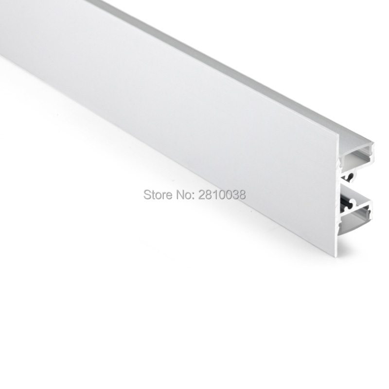 10 X 2M Sets/Lot T shape aluminium channel for led strip Wall washer led aluminum profile for up and down wall lighting 12x 2m sets lot office lighting aluminum u channel and super wide aluminum led strip profile for ceiling or pendant light