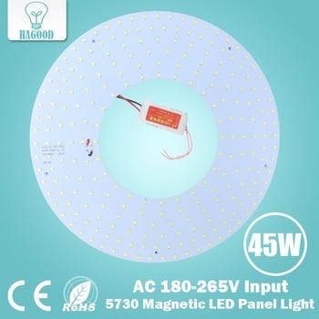Envío Gratis 45 W Smd 5730 Led del Panel de luz techo/iluminación de techo Circular Led 180-265 V araña