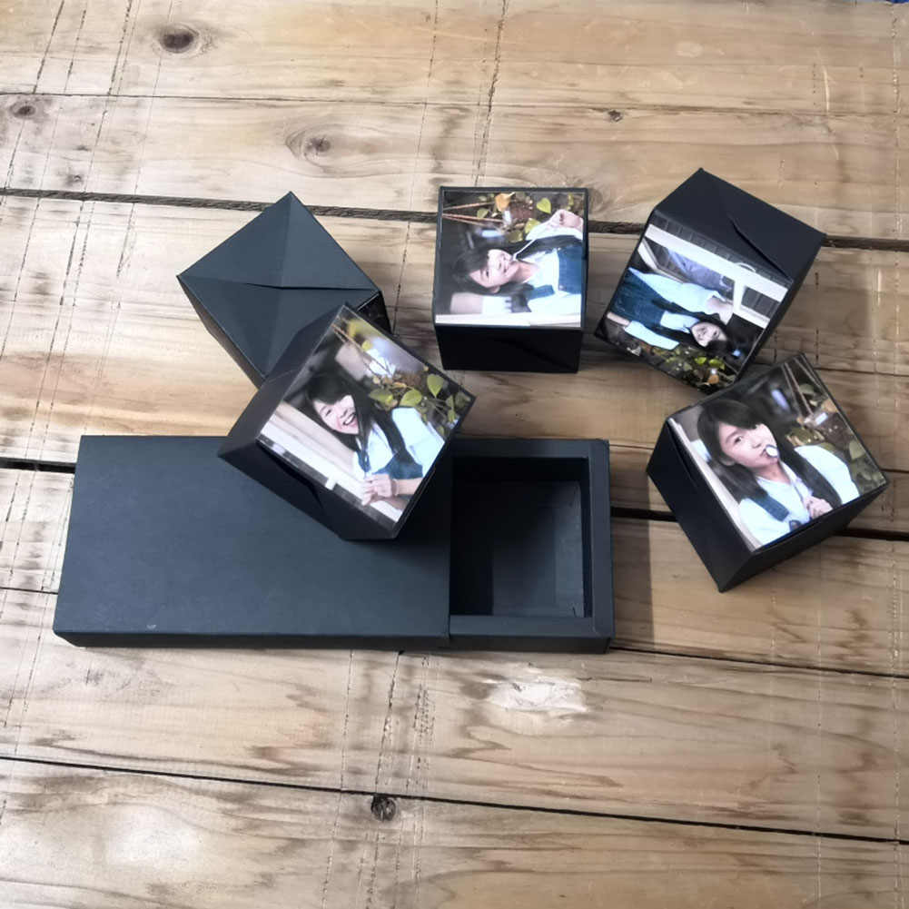 DIY Photo Album Birthday Gift Creative Surprise Party's Bounce Box Gift Explosion for Anniversary Scrapbook