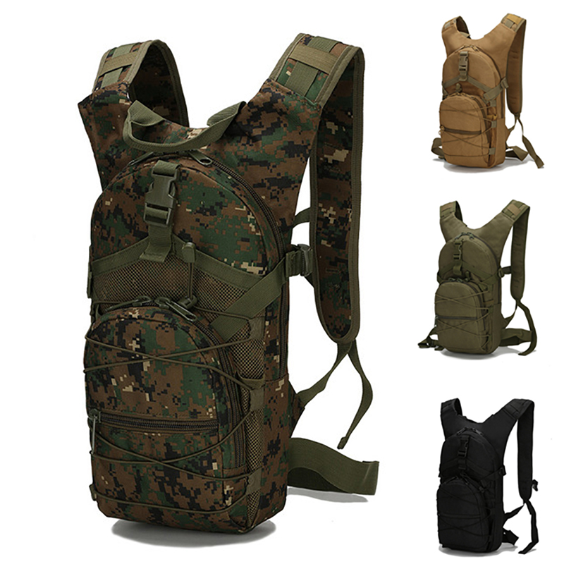 15L Molle Tactical Backpack 800D Oxford Military Hiking Bicycle Backpacks Outdoor Sports C