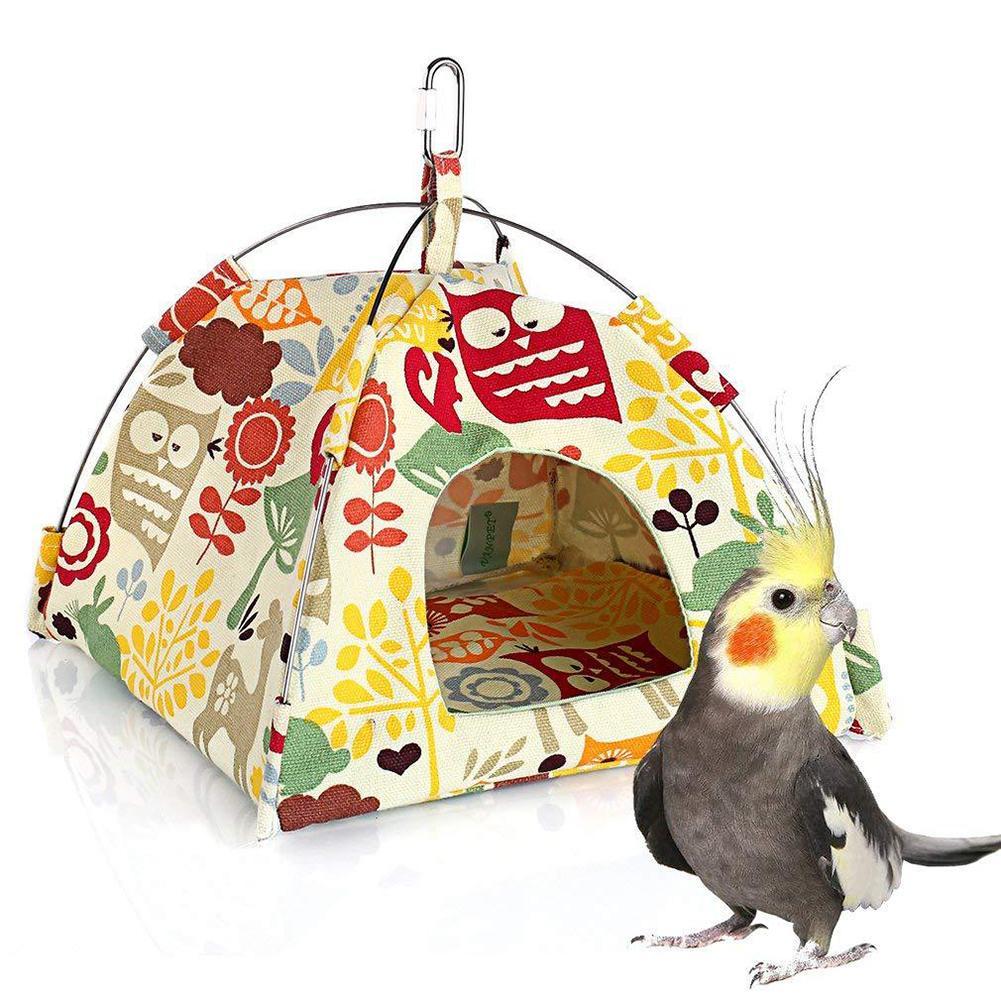 hamacas pájaros 1Pc Hamster Bird Nest Parrot Lodge China Tent House Cage Hammock Hanging Nests Bed Soft Pad Pet Supplies попугай