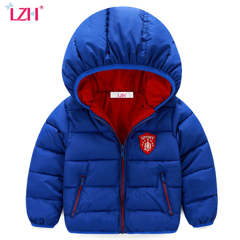 LZH Baby Boys Jacket 2018 Autumn Winter Jacket For Boys Coats and Jackets Girls Kids Warm Hooded Outerwear Coat Children Clothes winter jacket for girls kids hooded parka clothes children warm coats autumn down jackets girls snowsuits polk dot outerwear