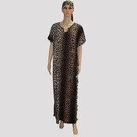 2017 Fashion Design Loose African Clothing Plus Size Women Dress Leopard Print Maxi Long Dress Sexy