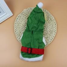 PANDADA Pet Dog Cat Warm Hoodies Polyester Short plush Green Sweater Christmas   Year Costumes Cute Small Pets