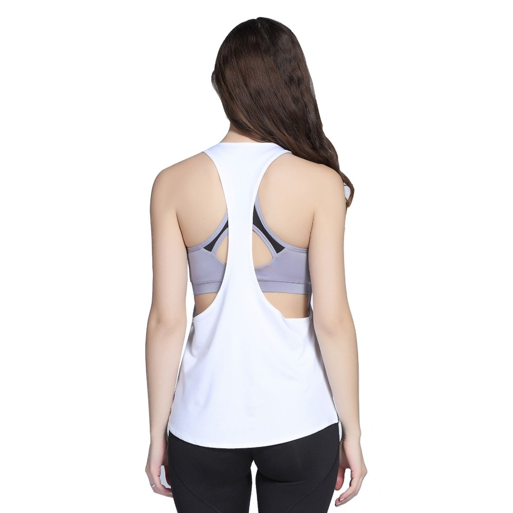6 Colors Sexy Women Tank Tops Dry Quick Jogging Loose Yoga Tops Gym Fitness Sport Sleeveless Vest Singlet for Running Training