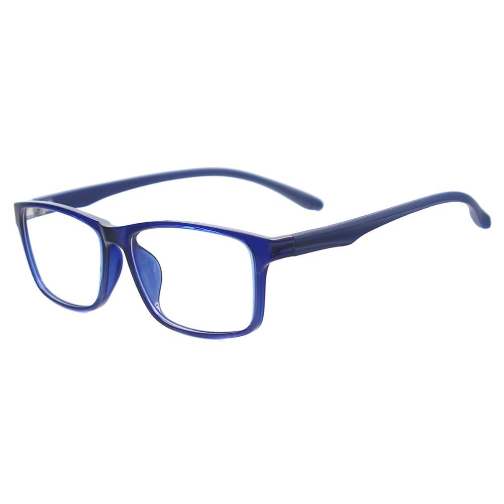 Mulheres De Plástico Leve Óculos Quadrados Homens Grandes Óculos de  Computador Anti Luz Azul Óculos Para Lentes de Prescrição em Armações de  óculos de ... c11ffb466c
