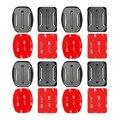 Gopro accesorios set 4 unids planas y curvas base de montaje con adhesivo 3 m vhb pegatinas para go pro hero 5 3 2 sesiones de 4 xiaoyi 4 k SJ4000