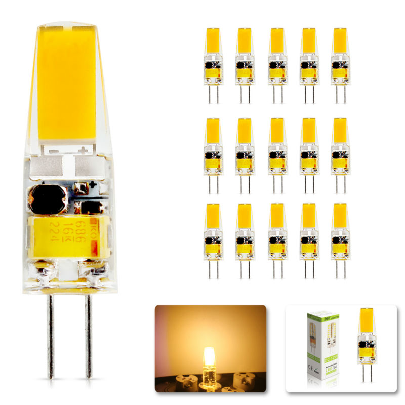 15Pcs/lot 2015 G4 AC DC 6W Replace halogen lamp light 360 Beam Angle 12V Dimmable Led bulb Lamp SMD luz lampada led