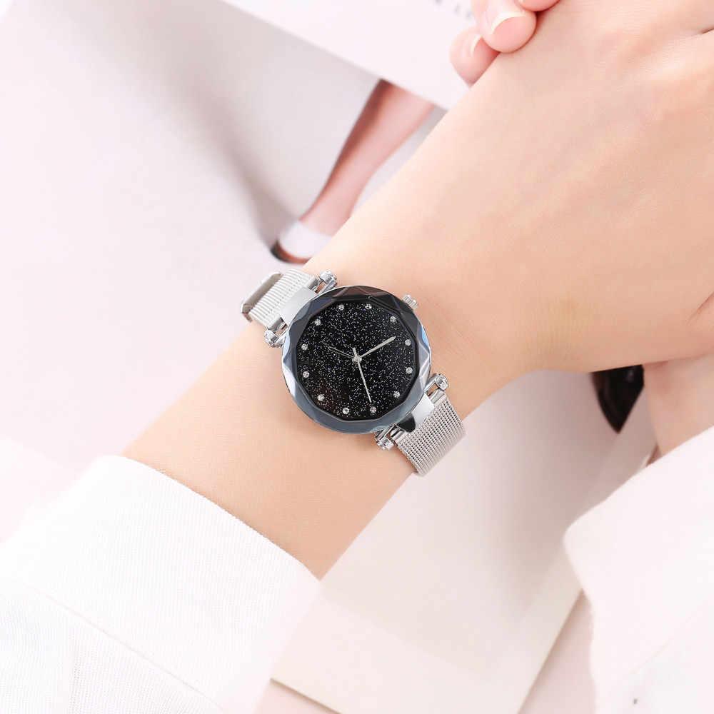 נשים שעון יד vansvar מקרית קוורץ נירוסטה רצועת שעון אנלוגי גבירותיי שעונים אופנה שעון 2019 relogio feminino