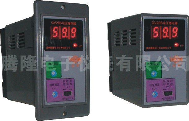 JV19S DC Electronic voltage relay under voltage protection relay overload voltage relay 2 pin thermal overload protection