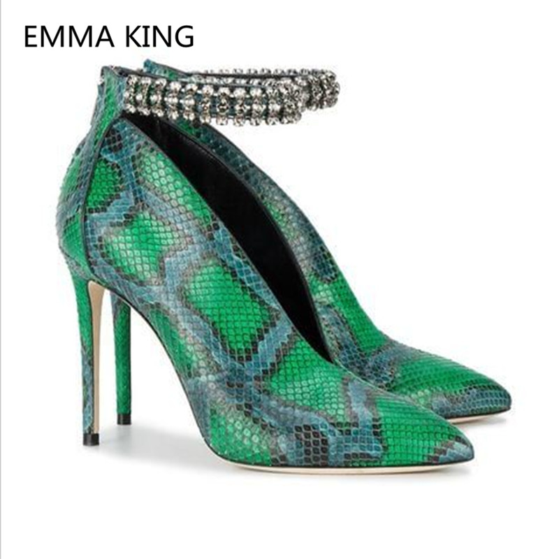 Snake-Prints-Deep-V-Design-Sexy-Women-Ankle-Boots-Pointed-Toe-Fashion-boots-Ankle-Crystal-Strap (1)