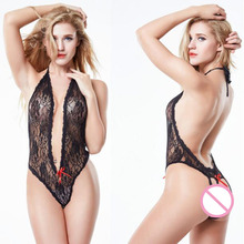 YQ139 Hot Sell Sexy Lingerie Hot Baby Doll Women Sexy Costumes Halter Underwear Dress Deep-V Erotic Lingerie