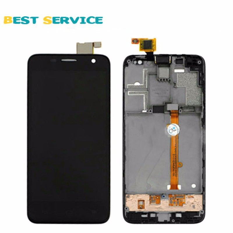 For-Alcatel-One-Touch-Idol-Mini-6012-OT6012-LCD-Display-Touch-Screen-Digitizer-Frame-Assembly-black