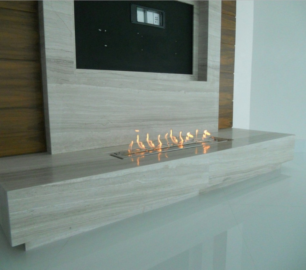 Inno Living Fire 36 Inch Stainless Steel  Bio Ethanol Fireplace Burner Insert