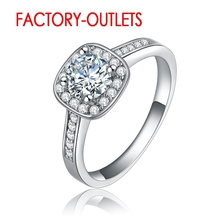 925 Sterling Silver Ring Bridal Sets Fashion Jewelry Square Cubic Zirconia Bezel Setting Women Girls Party Engagement Wholesale цена 2017