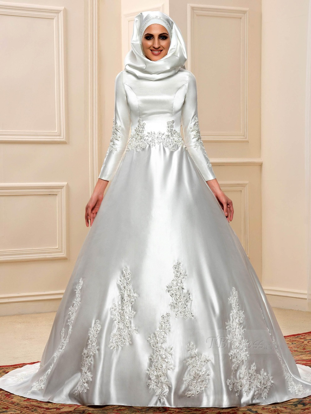 long sleeved wedding dresses 2017 muslim dress women