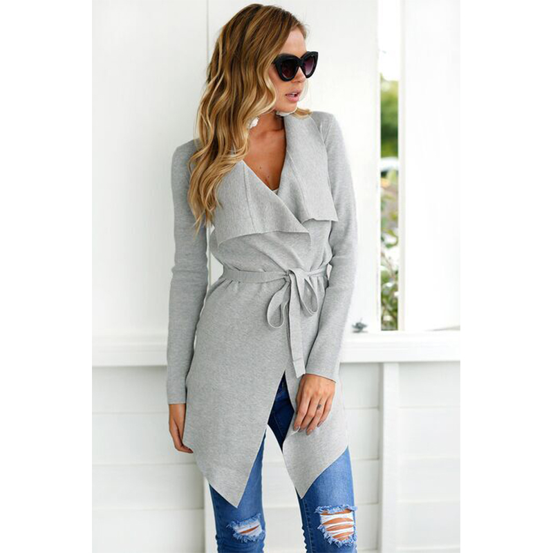 Turn-down Collar Jackets For Women Autumn Winter Fashion ASymmetric Length Coats and Solid Color Female Clothing