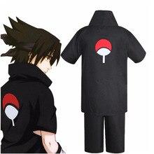 JP Disfraz de Naruto Uchiha Sasuke de 2ª generación, conjunto completo de uniforme negro, Disfraces para fiesta de carnaval, peluca