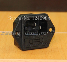 SAWINFOONG AC outlet AC power connector socket combo insured three -pin connector socket triangle RF-2004C--50pcs/lot