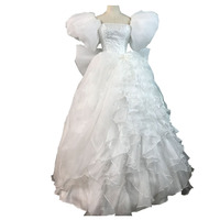 2017 Movie Enchanted Princess Giselle Cosplay Costume Adult Women Halloween Costumes White Party Gown Fancy Giselle