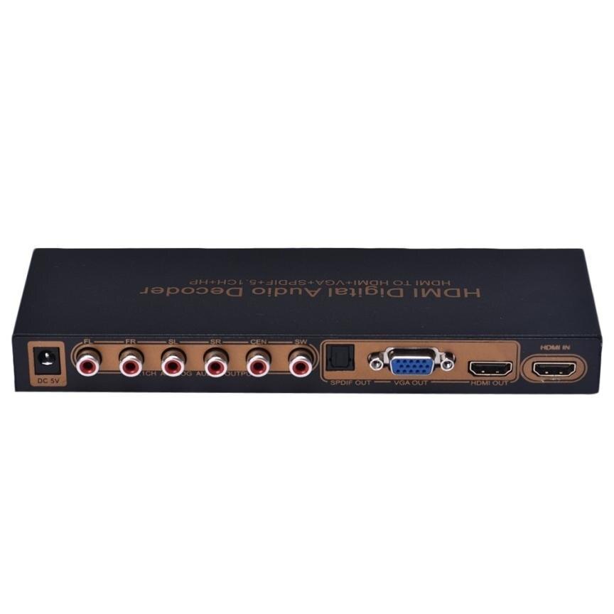 CARPRIE HDMI TO HDMI+VGA+SPDIF+5.1CH+RCA+1080P Digital Multi-Channel Audio Decoder DSP 17Dec28 80 channels hdmi to dvb t modulator hdmi extender over coaxial