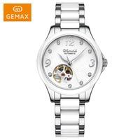 GEMAX Ceramic Women Automatic Mechanical Watches 50m Waterproof Luxury Famous Brand Sapphire MIYOTA movement Wrist Watches