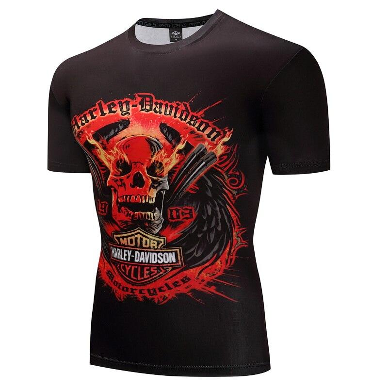 2018 Hip Hop T shirt Youth Men Tshirt T-shirt 3D Sickle Skulls Motorcycle Shackle Printed Casual-shirt Mens Casual Clothes Tee