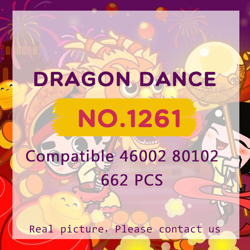 Dragon Dance Sembo 1261 Building Blocks Chinese New Year Bricks Toys Spring Festival Gifts LegoINGlys 80102Dragon Dance Sembo 1261 Building Blocks Chinese New Year Bricks Toys Spring Festival Gifts LegoINGlys 80102