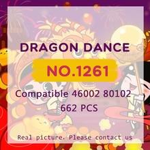 Dragon Dance Sembo 1261 blocs de construction chinois nouvel an briques jouets printemps Festival cadeaux LegoINGlys 80102