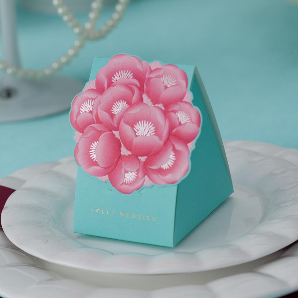 Wholesale 10 Peice Elegant Floral Wedding Favor Boxes In Roses ...