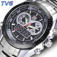 TVG Luxury Brand Men Watches Digital LED Waterproof Sport Military Analog Watch Quartz Watch Men Wristwatch Relogio Masculino