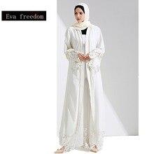 Dubai Abaya Muslim Dress Plus Size Robe Knitting Singapore Islamic Abaya Dress Kaftan Beading Diomand Muslim Lace Abaya wj1057