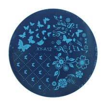 Kimcci Christmas Style Nail Art Stamping Plates Fashion Design DIY 3D Image Round Templates Stencils Manicure Tools Makeup plant