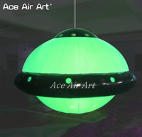 brand new portable lighting Inflatable UFO replica with led lights hanging to the ceiling