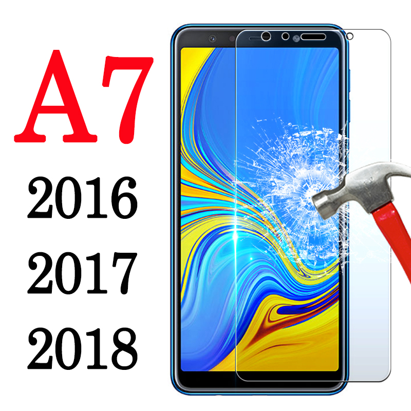 A7 <font><b>Glass</b></font> Screen Protector For <font><b>Samsung</b></font> A7 2018 2017 2016 Protective Case On Galaxy <font><b>A</b></font> <font><b>7</b></font> 7A Sam Cam Cover Tempered Tremp Glas Film image