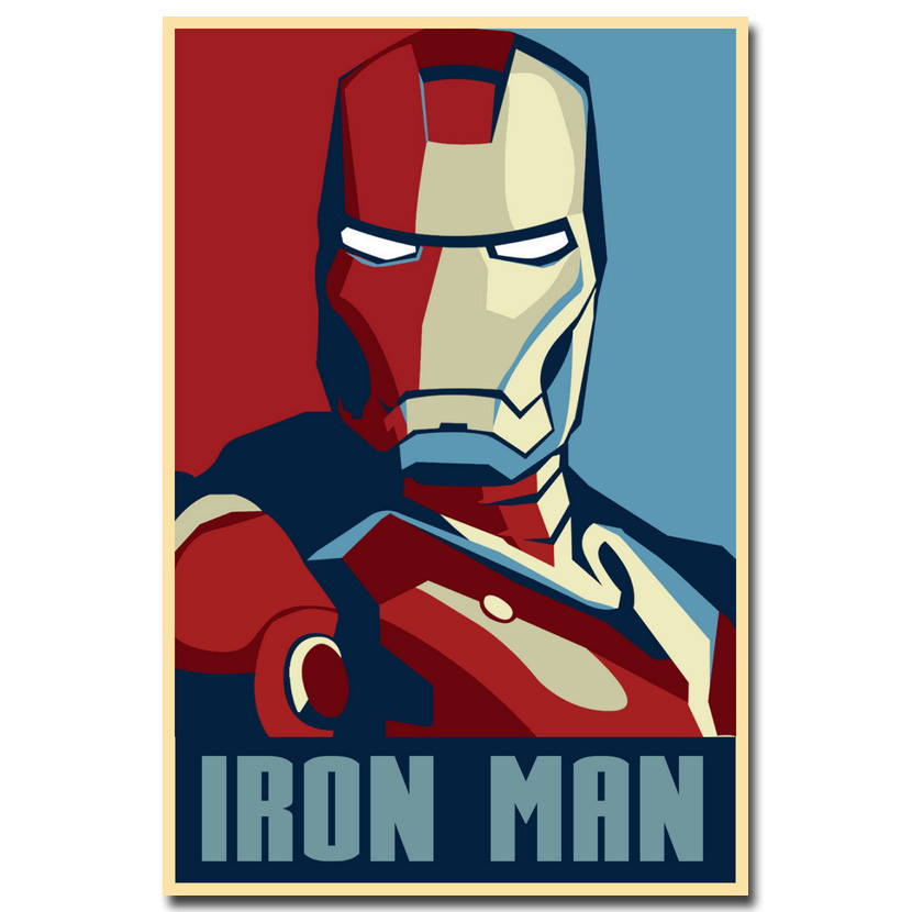 Iron man Art Silk Poster 12x18 24x36