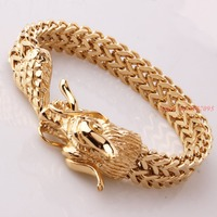 Cool Stainless Steel Silver/Gold/Black Dragon Bracelets For Men Personality Fashion Stainless Steel Bangle Men's Gift