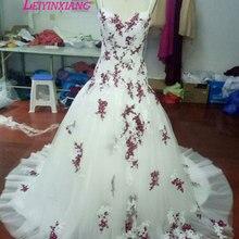 LEIYINXIANG Vestido De Noiva Sweep Train Wedding Dress