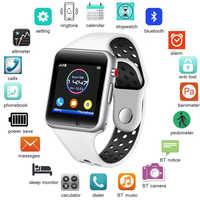 LIGE 2019 nuevo reloj inteligente para hombre, podómetro deportivo para mujer, reloj Digital LED, cámara SIM, reproductor de música, reloj inteligente para Android + caja