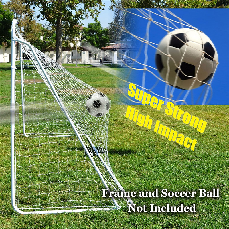 Portable Soccer Nets Full Size 12 X 6ft Football Door Goal Net For Clubs Coaches Outdoor Sport Training Post Nets Practice Match