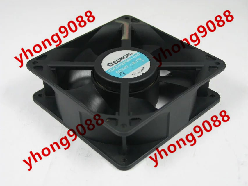 Free Shipping For SUNON KDE2412PMB1-6AB DC 24V 6.7W 2-pin 120x120x38mm Server Square Cooling Fan free shipping for sunon kde0505phb2 dc 5v 1 9w 2 wire 3 pin 50x50x15mm server square fan