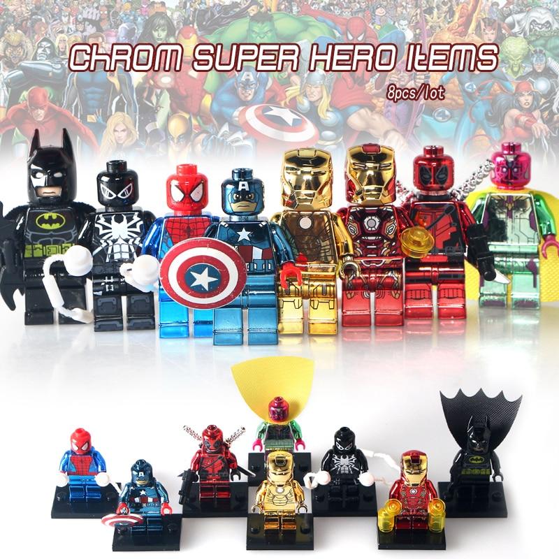 Deadpool And Spider Man 1: Single Sale Chrome Super Heroes Iron Man PG406 Spiderman