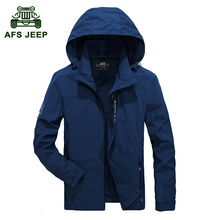 AFS JEEP 2017 The Newest Spring Autumn Famous Brand Men's Jacket High Quality Men Jacket Hooded Ventilation Military Color 110