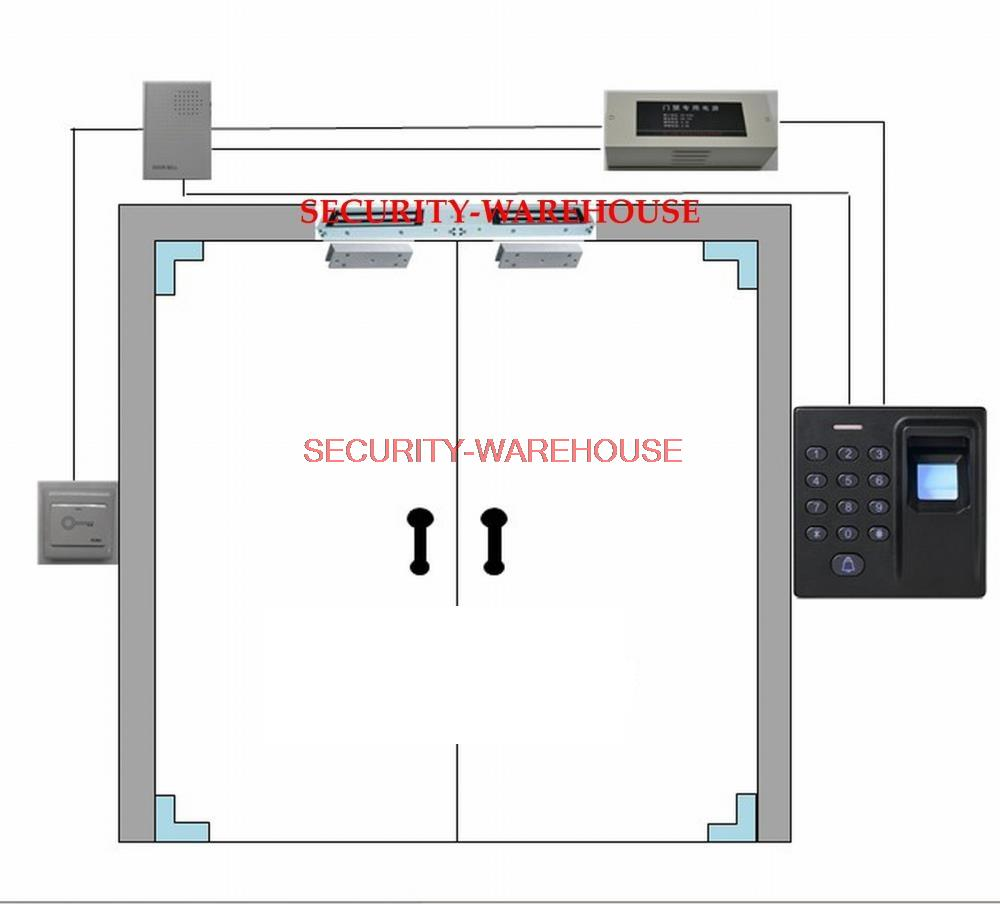 Glass door Access Control System: 180kg Double Door Magnetic Lock ...