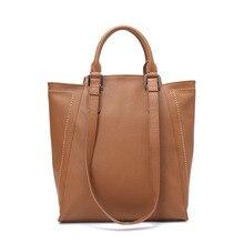 HANSOMFY New Sale Women Handbags 100 Genuine Leather Real Soft Skin Fashion Female Shoulder Bag Ladies
