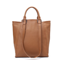 HANSOMFY  New Sale Women Handbags 100% Genuine Leather Real Soft Skin Fashion Female Shoulder Bag Ladies Casual Tote